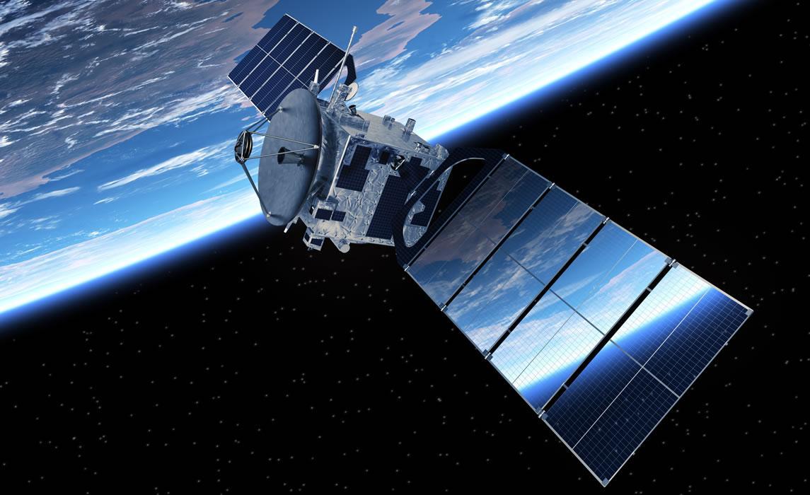 Satellite dans l'espace